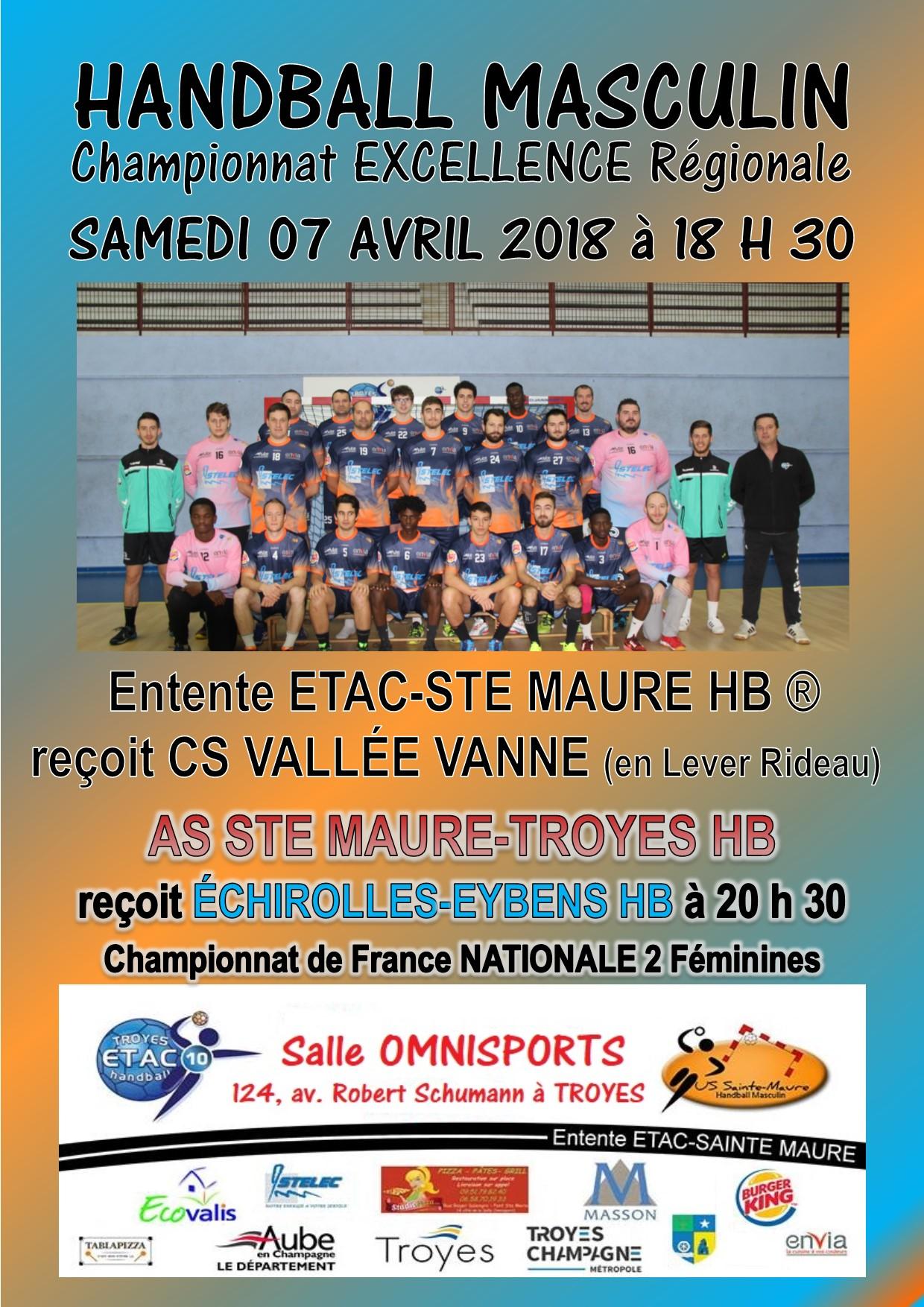 Samedi 07 avril - Salle Omnisports